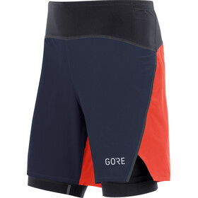GORE WEAR R7 2-in-1 Shorts Heren, orbit blue/fireball